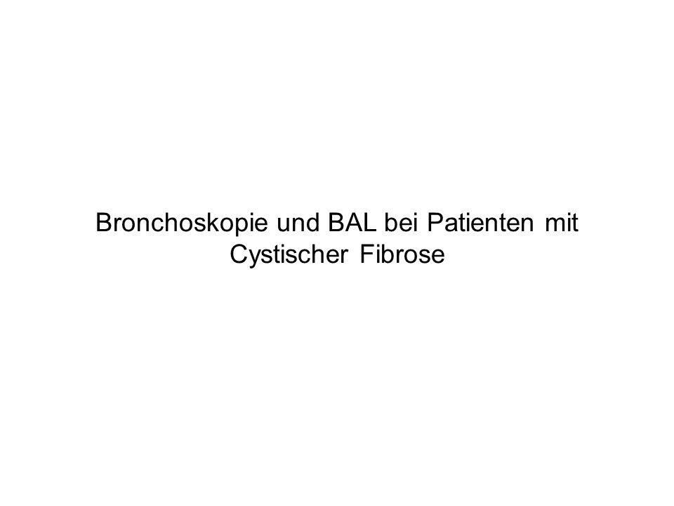 Bronchoskopie und BAL bei Patienten mit Cystischer Fibrose