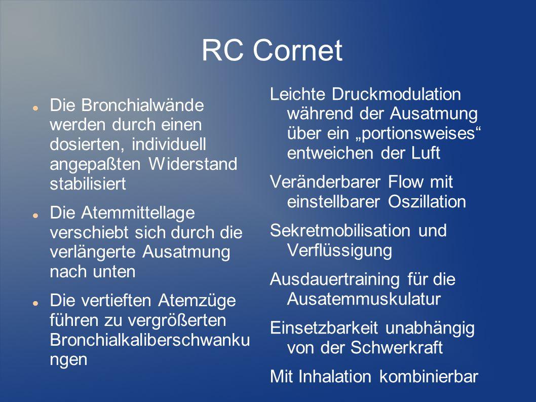 """RC Cornet Leichte Druckmodulation während der Ausatmung über ein """"portionsweises entweichen der Luft."""