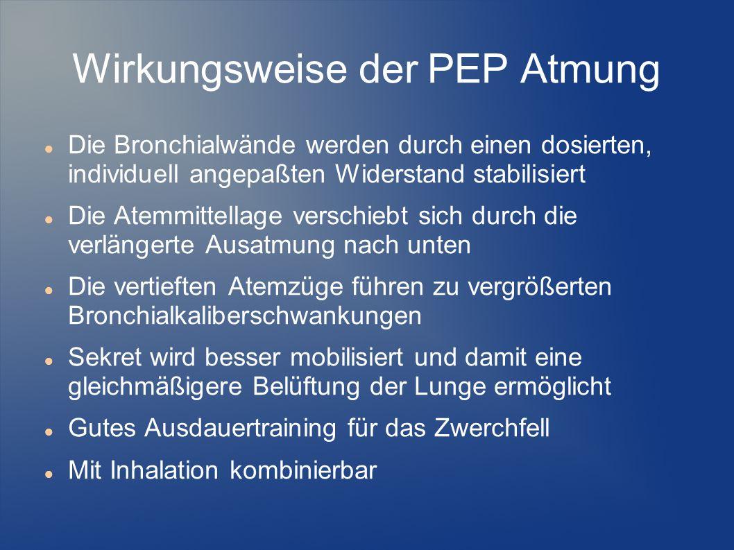 Wirkungsweise der PEP Atmung