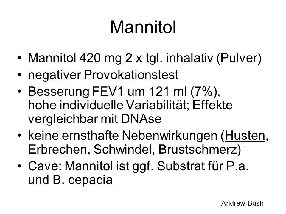 Mannitol Mannitol 420 mg 2 x tgl. inhalativ (Pulver)