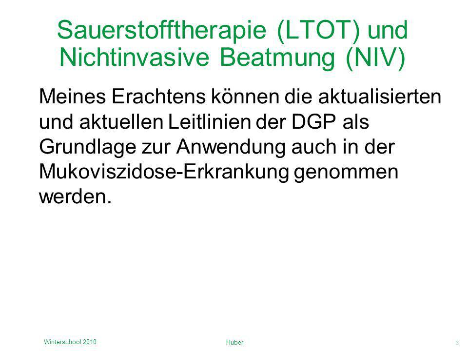 Sauerstofftherapie (LTOT) und Nichtinvasive Beatmung (NIV)
