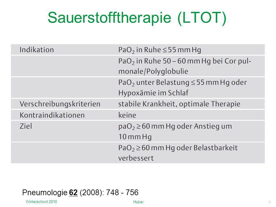 Sauerstofftherapie (LTOT)