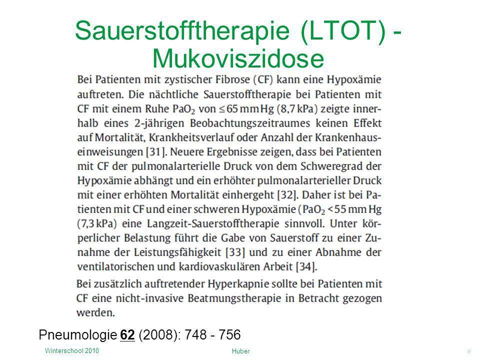 Sauerstofftherapie (LTOT) - Mukoviszidose