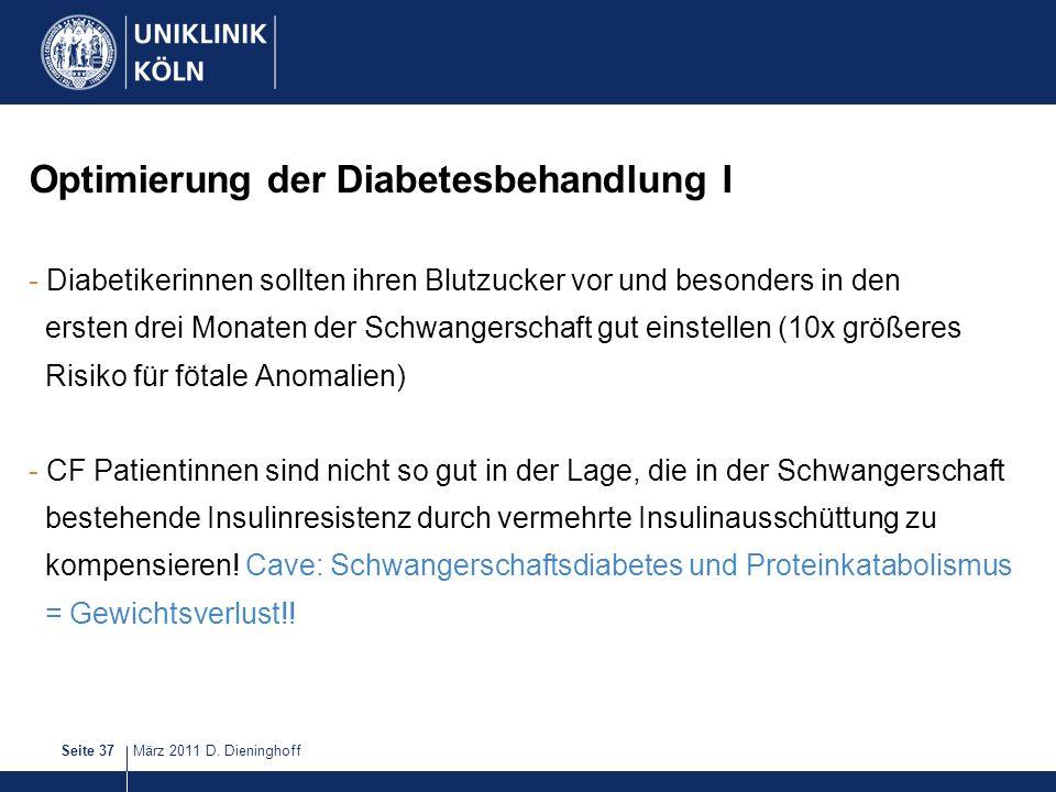 Optimierung der Diabetesbehandlung I