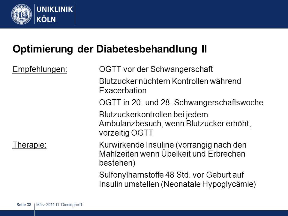 Optimierung der Diabetesbehandlung II