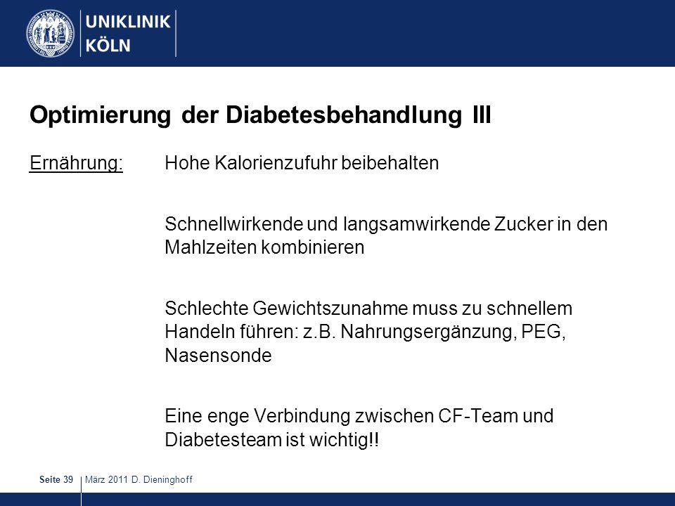 Optimierung der Diabetesbehandlung III