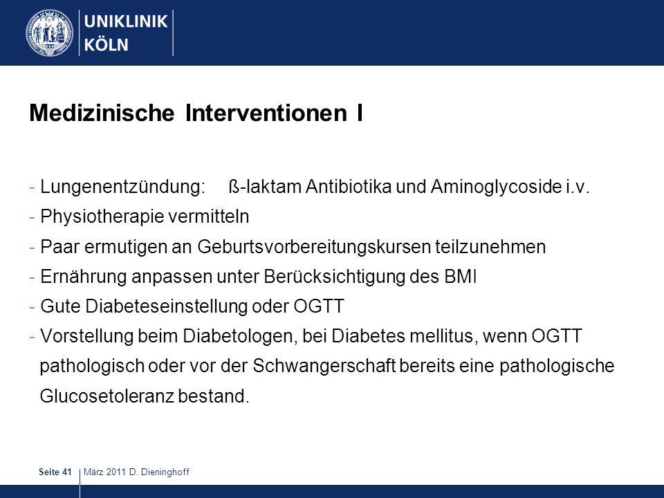 Medizinische Interventionen I