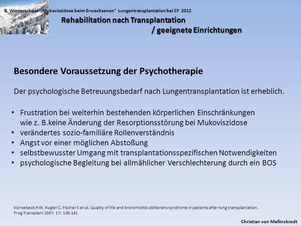 Besondere Voraussetzung der Psychotherapie