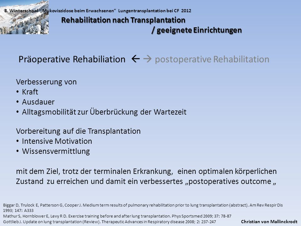 Präoperative Rehabiliation   postoperative Rehabilitation