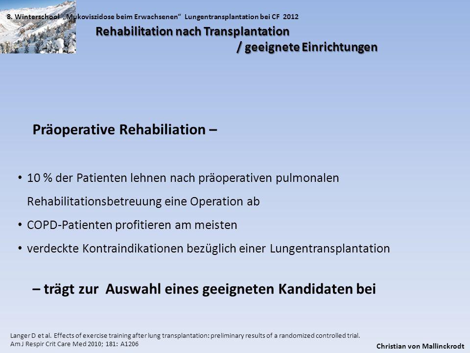 Präoperative Rehabiliation –