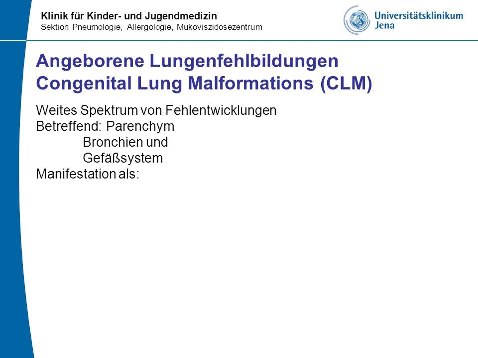 Angeborene Lungenfehlbildungen Congenital Lung Malformations (CLM)