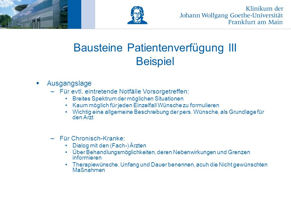 Bausteine Patientenverfügung III Beispiel