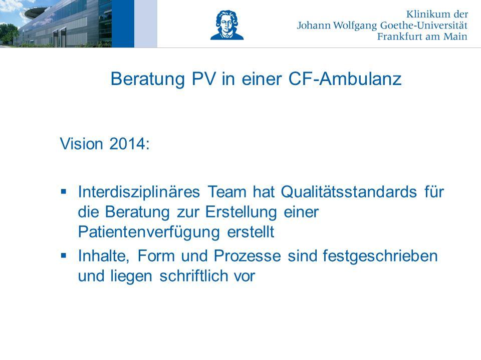 Beratung PV in einer CF-Ambulanz