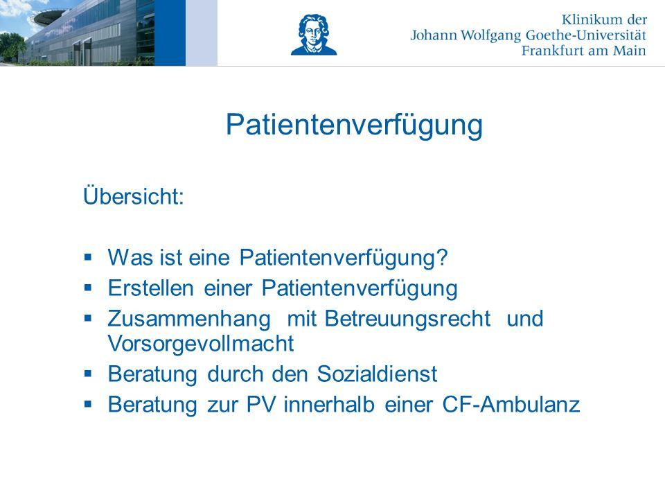 Patientenverfügung Übersicht: Was ist eine Patientenverfügung