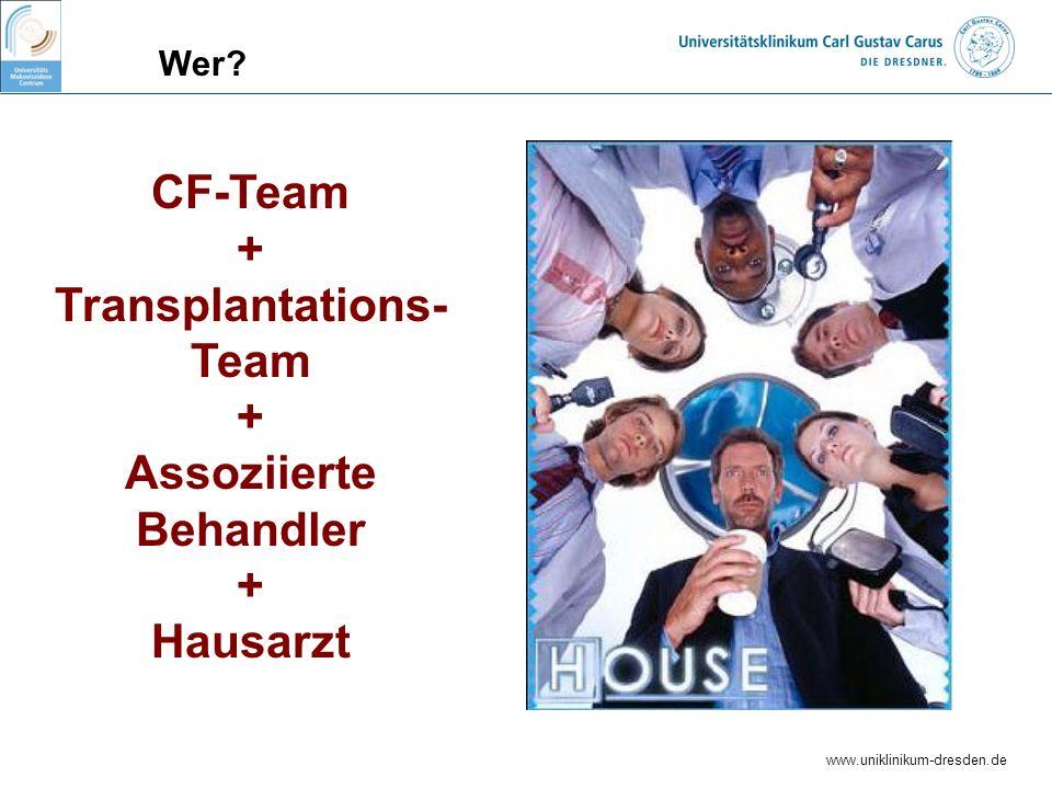 CF-Team + Transplantations- Team Assoziierte Behandler Hausarzt