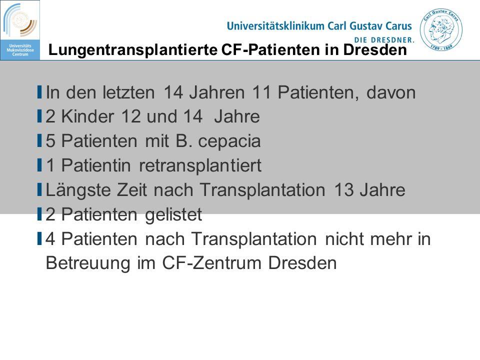 Lungentransplantierte CF-Patienten in Dresden