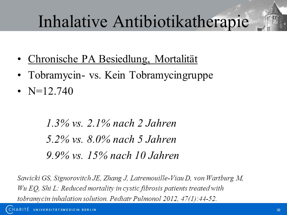 Inhalative Antibiotikatherapie