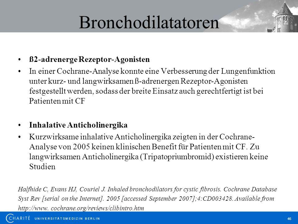 Bronchodilatatoren ß2-adrenerge Rezeptor-Agonisten