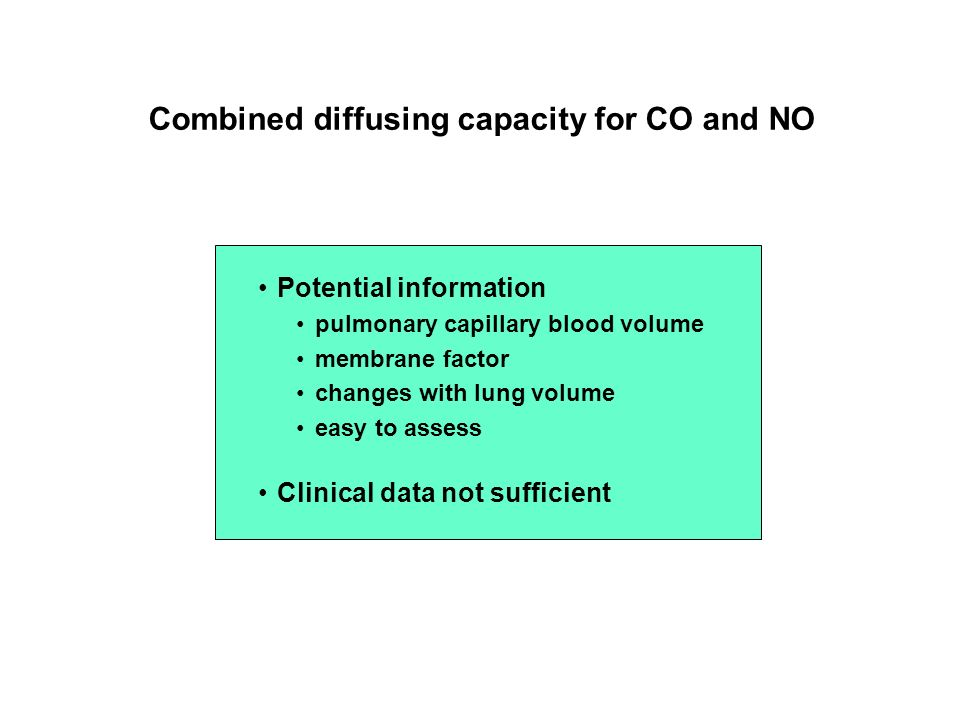 Combined diffusing capacity for CO and NO