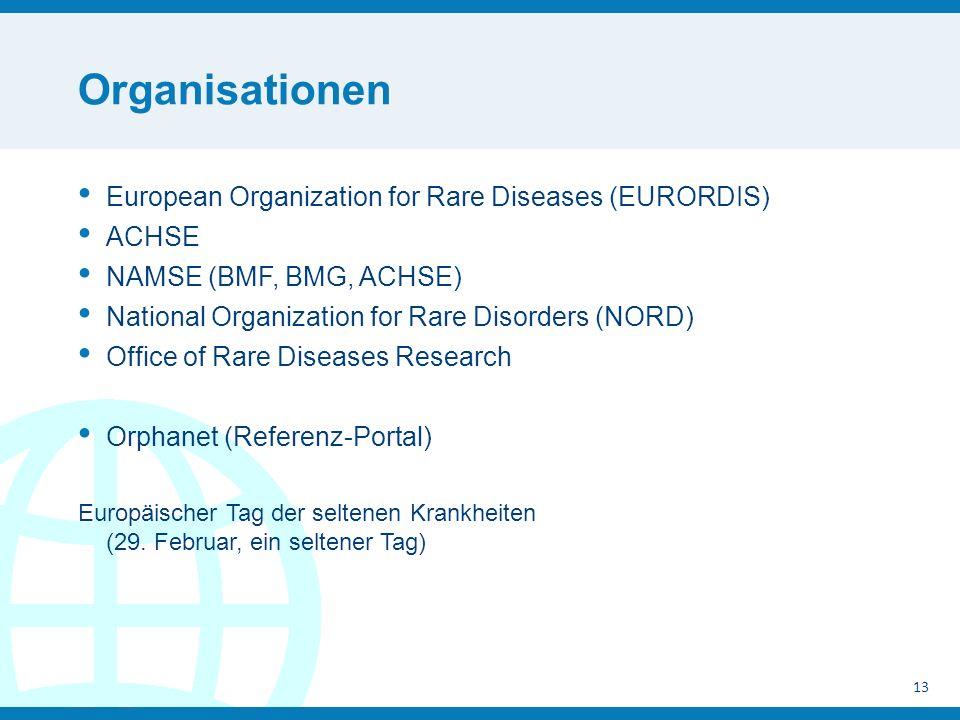 Organisationen European Organization for Rare Diseases (EURORDIS)