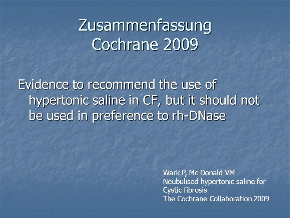 Zusammenfassung Cochrane 2009