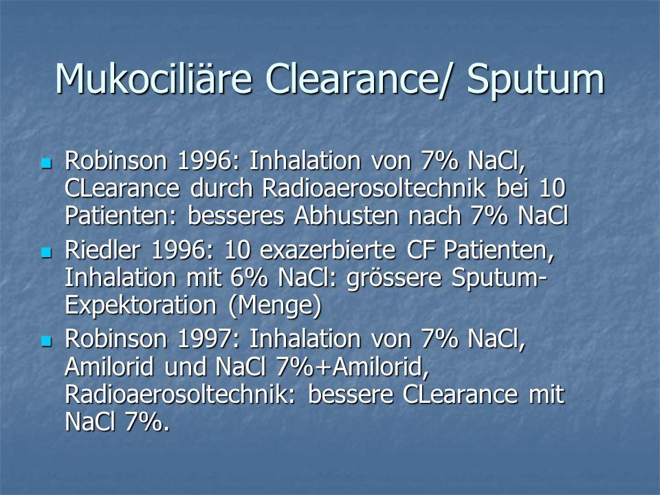 Mukociliäre Clearance/ Sputum