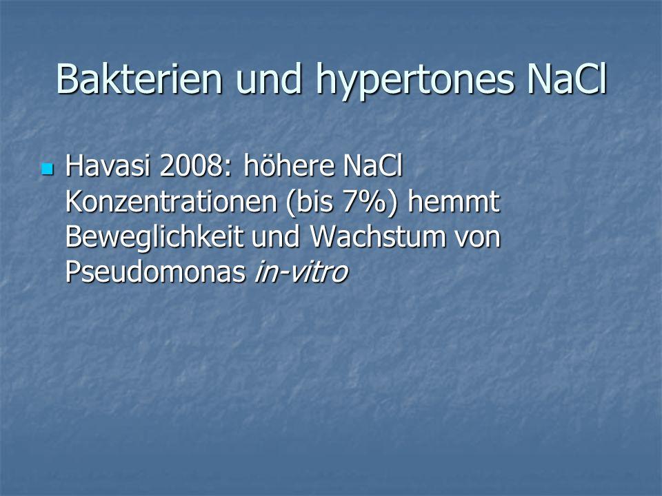 Bakterien und hypertones NaCl