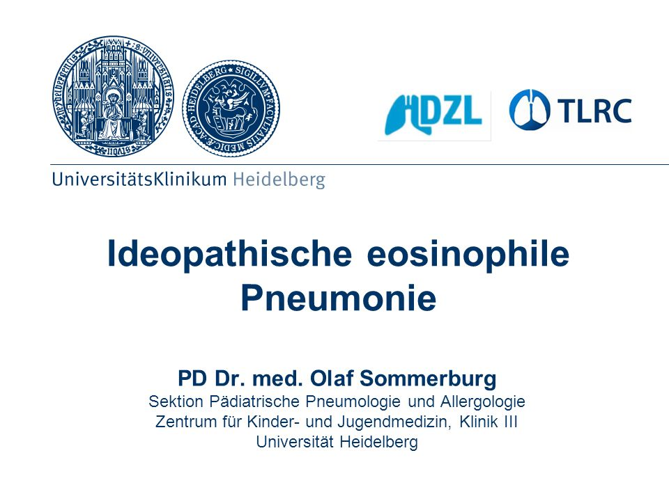 Ideopathische eosinophile Pneumonie