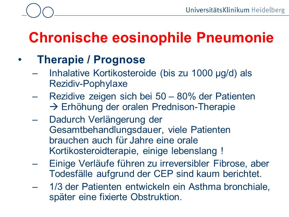 Chronische eosinophile Pneumonie