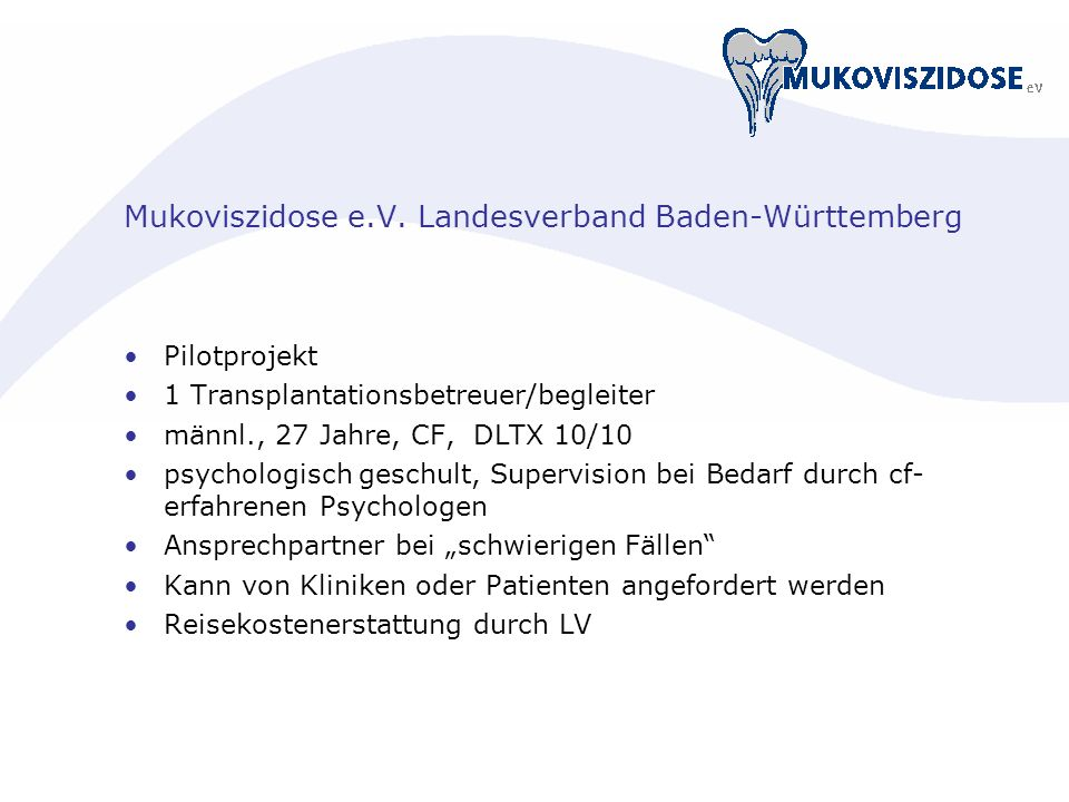 Mukoviszidose e.V. Landesverband Baden-Württemberg