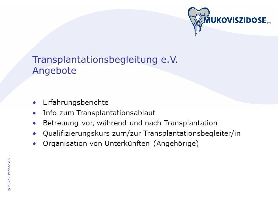 Transplantationsbegleitung e.V. Angebote
