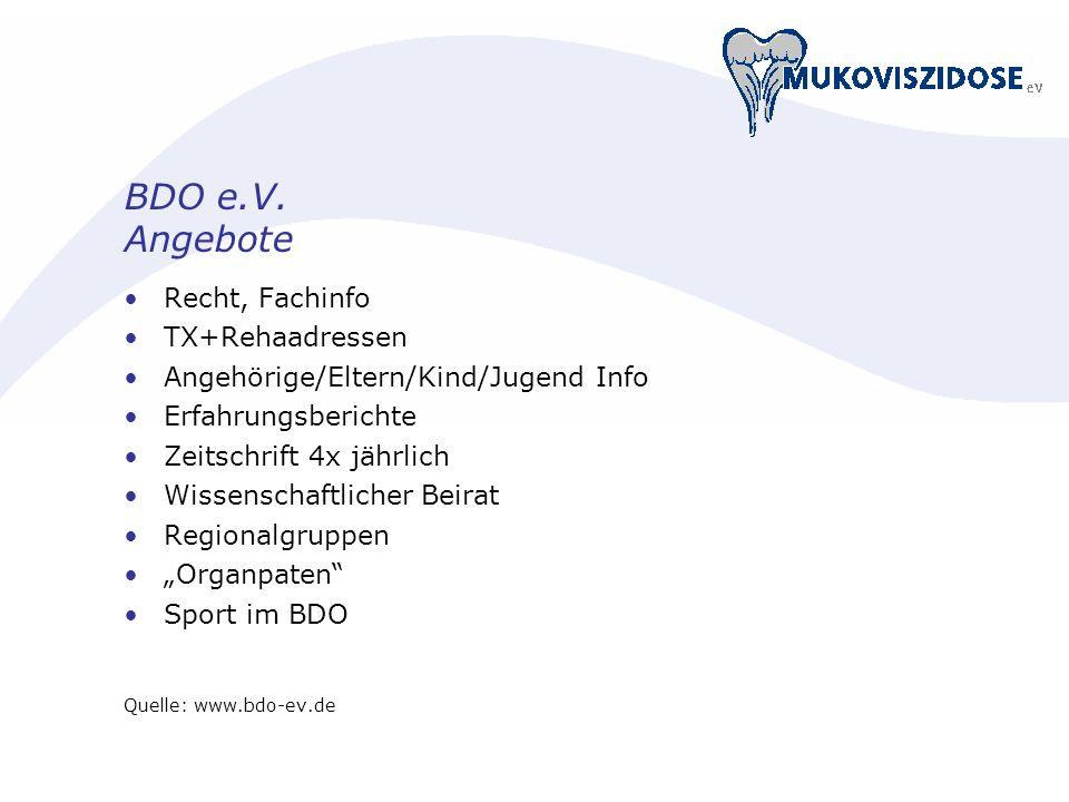 BDO e.V. Angebote Recht, Fachinfo TX+Rehaadressen