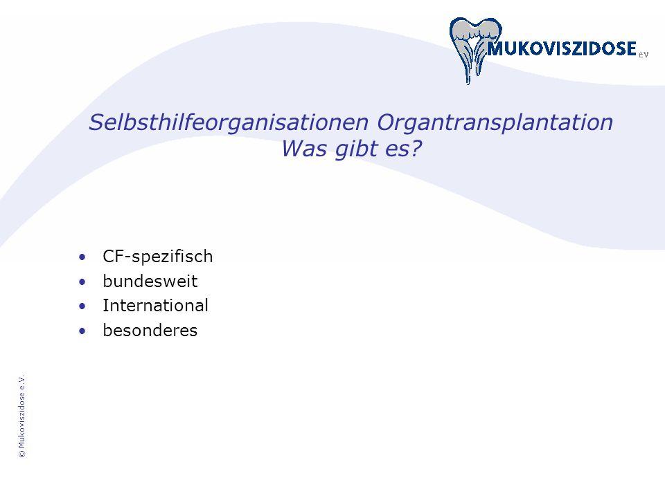 Selbsthilfeorganisationen Organtransplantation Was gibt es