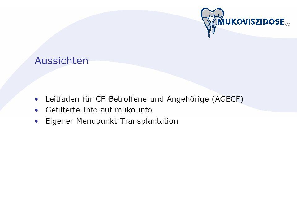 Aussichten Leitfaden für CF-Betroffene und Angehörige (AGECF)