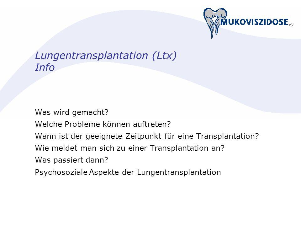 Lungentransplantation (Ltx) Info