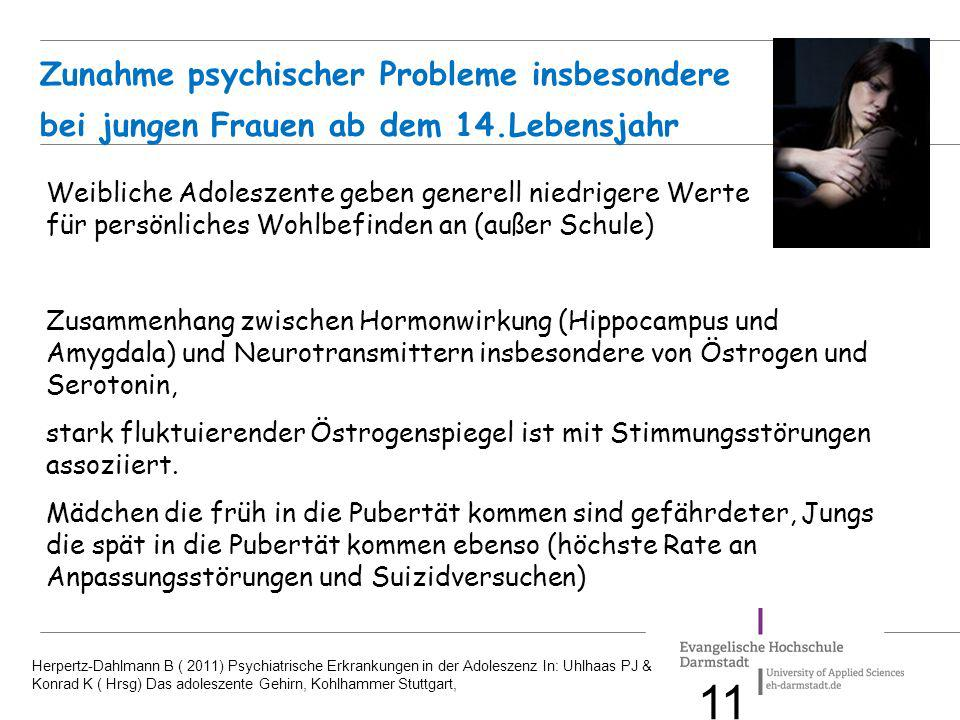 Zunahme psychischer Probleme insbesondere. bei jungen Frauen ab dem 14