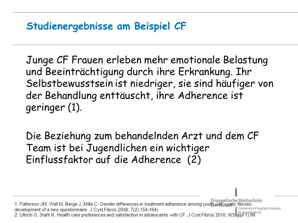 Studienergebnisse am Beispiel CF