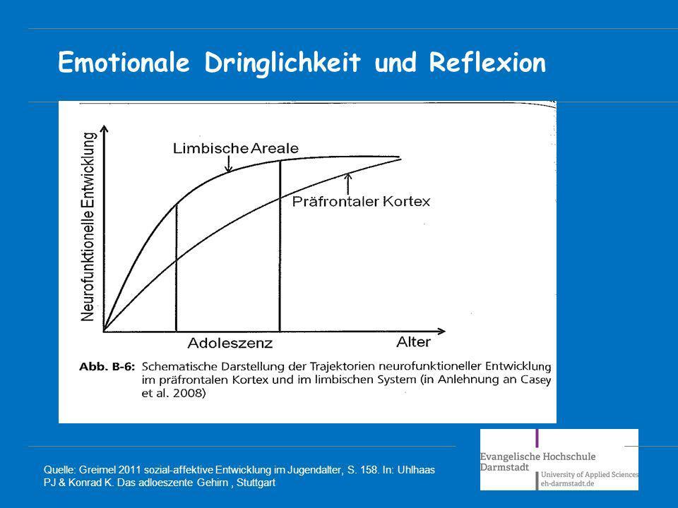 Emotionale Dringlichkeit und Reflexion