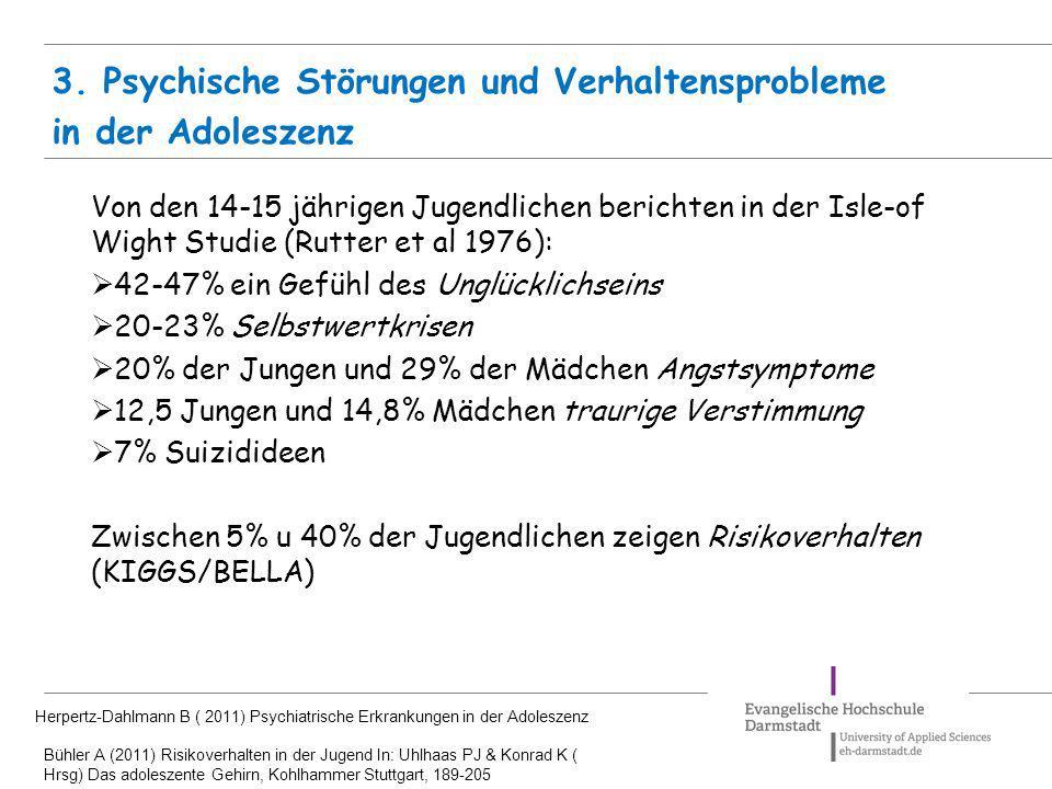 3. Psychische Störungen und Verhaltensprobleme in der Adoleszenz