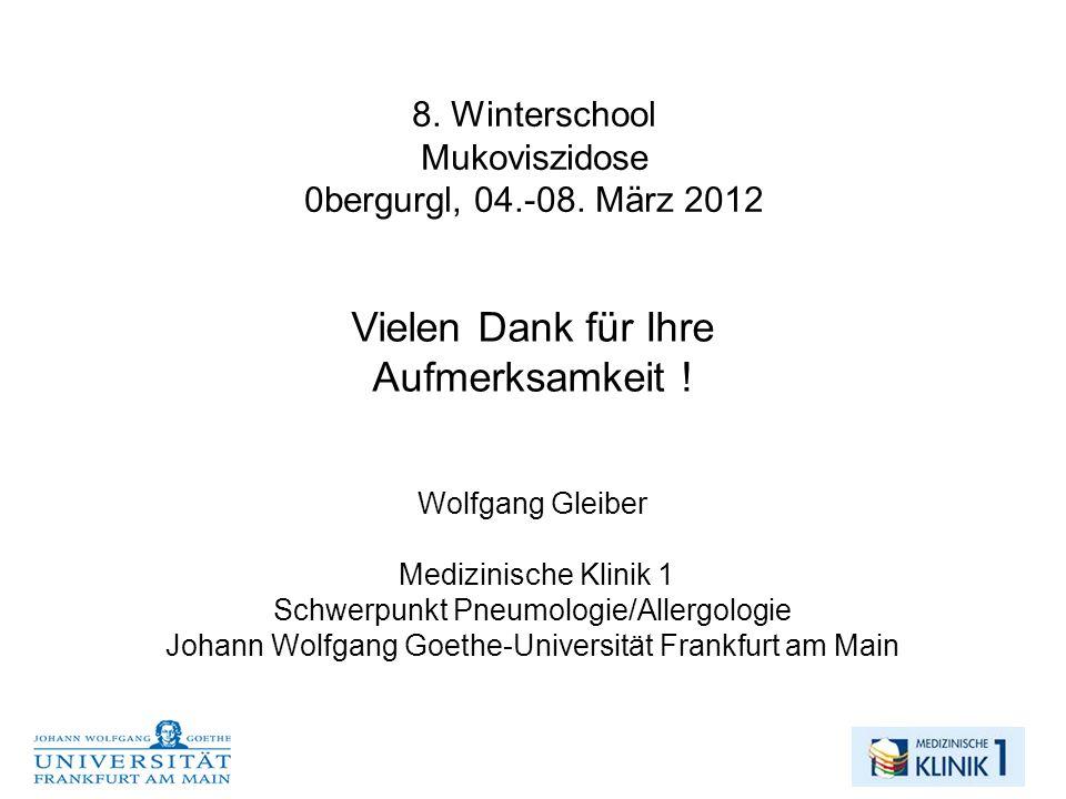 8. Winterschool Mukoviszidose 0bergurgl, 04.-08. März 2012