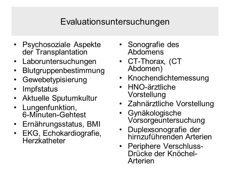 Evaluationsuntersuchungen
