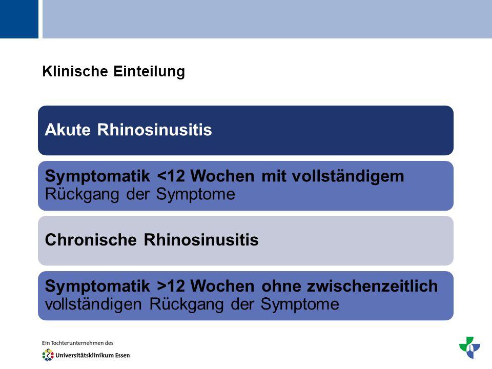 Klinische Einteilung Akute Rhinosinusitis