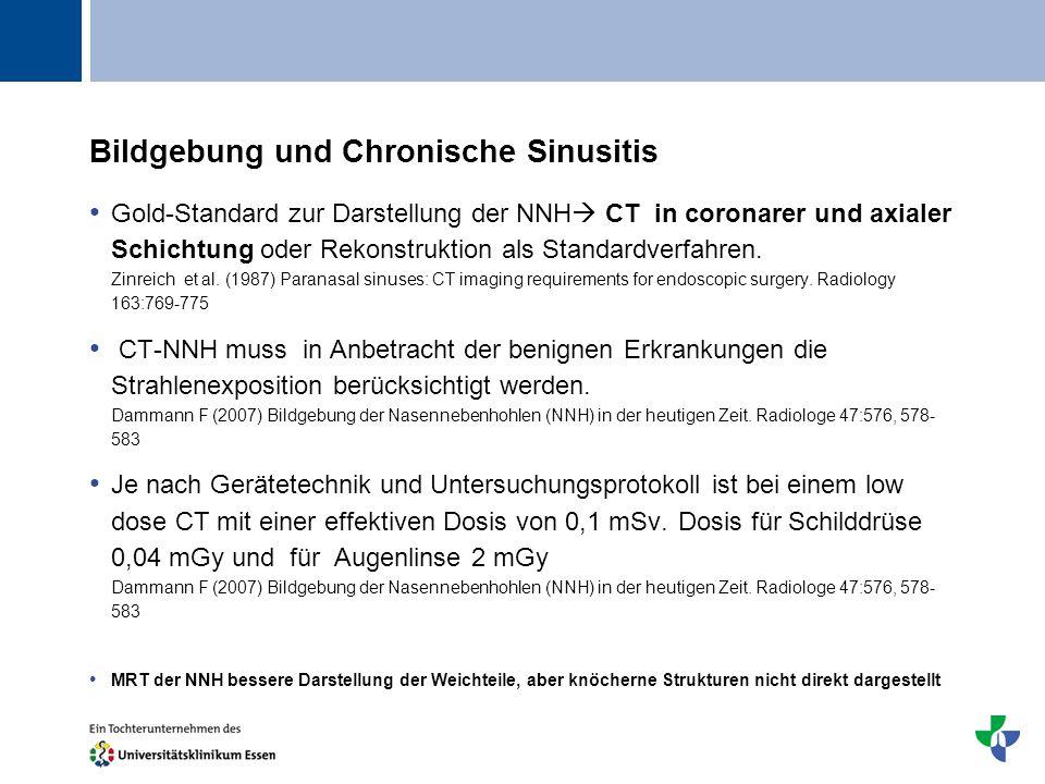 Bildgebung und Chronische Sinusitis