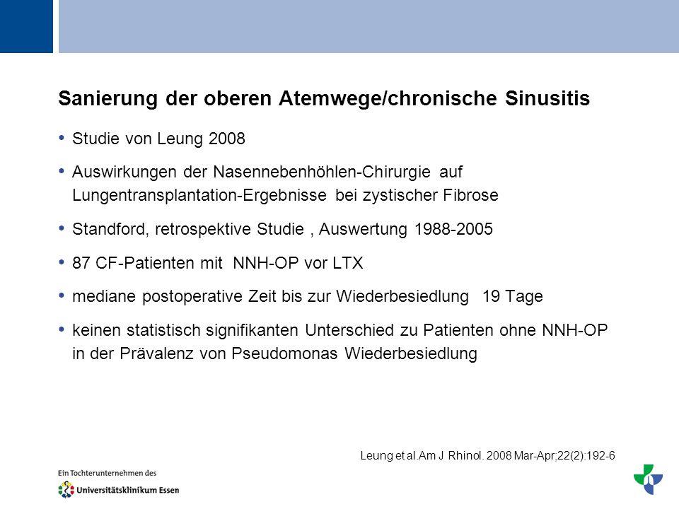 Sanierung der oberen Atemwege/chronische Sinusitis