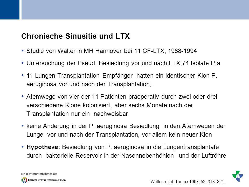 Chronische Sinusitis und LTX