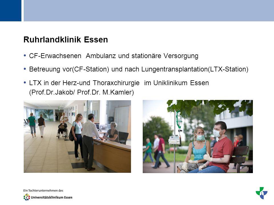 Ruhrlandklinik Essen CF-Erwachsenen Ambulanz und stationäre Versorgung