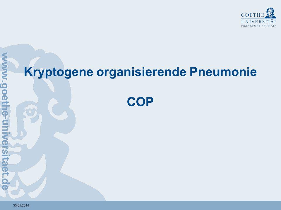 Kryptogene organisierende Pneumonie COP
