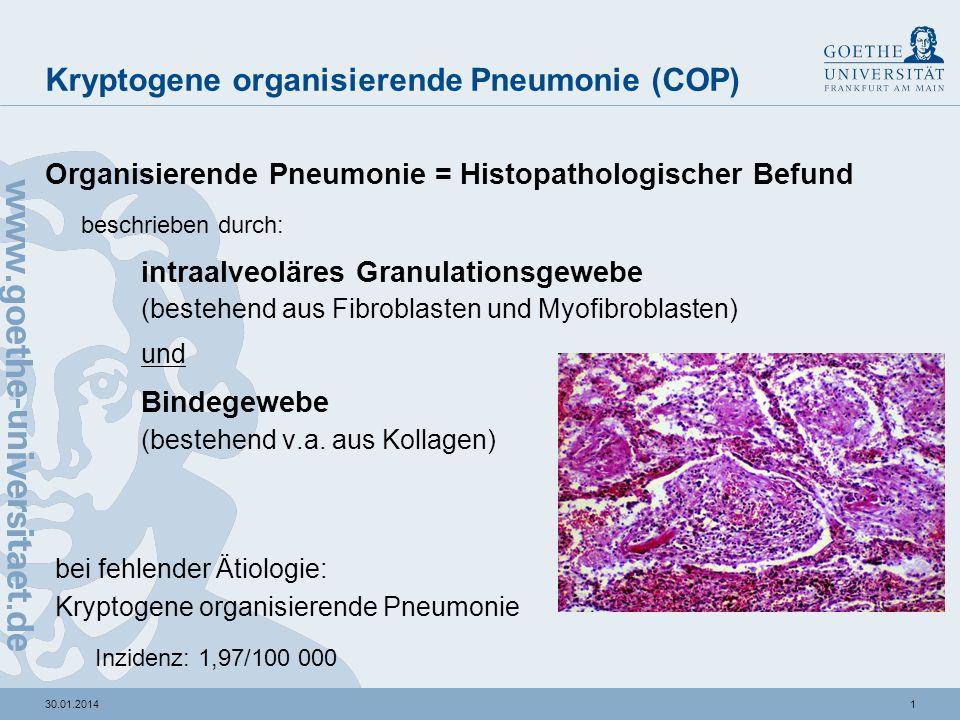 organisierende pneumonie