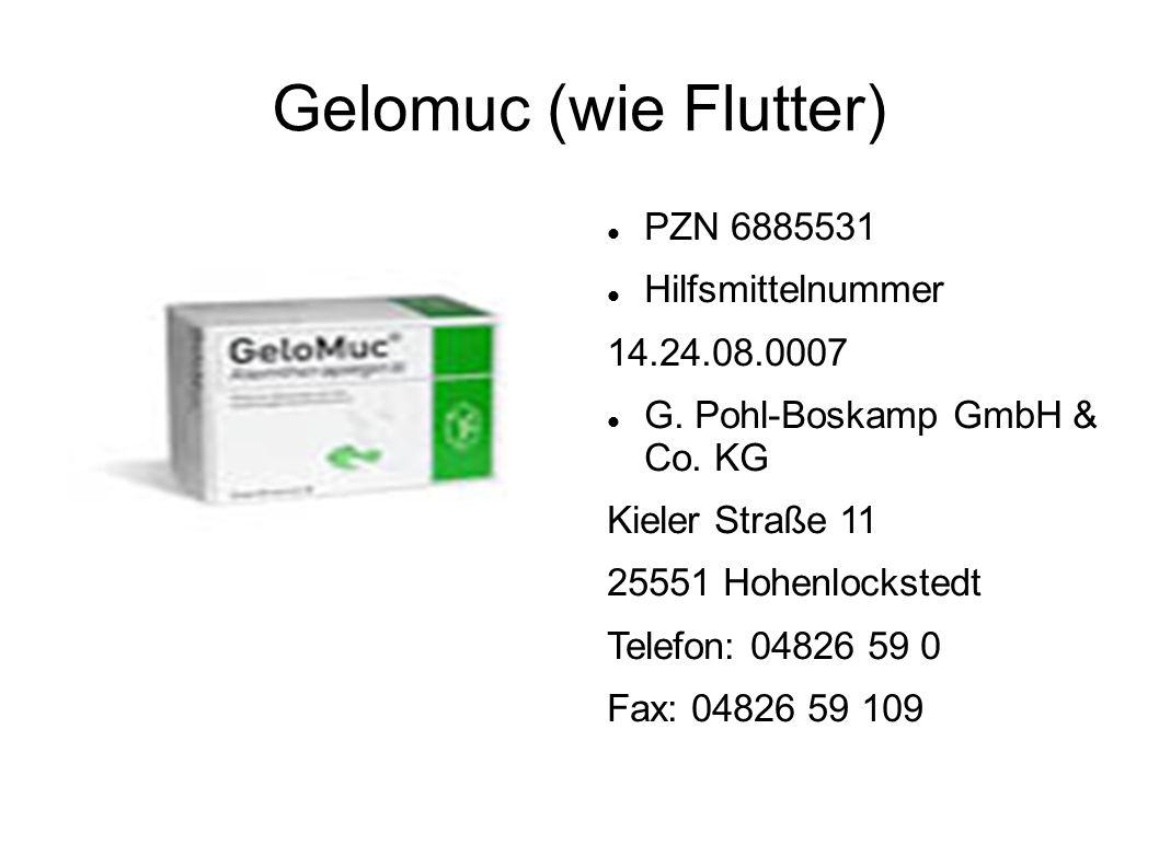 Gelomuc (wie Flutter) PZN 6885531 Hilfsmittelnummer 14.24.08.0007