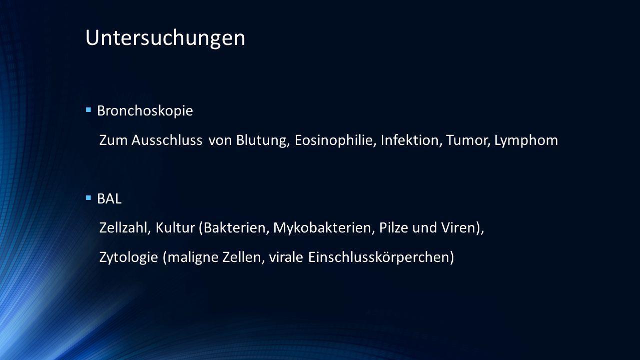 Untersuchungen Bronchoskopie